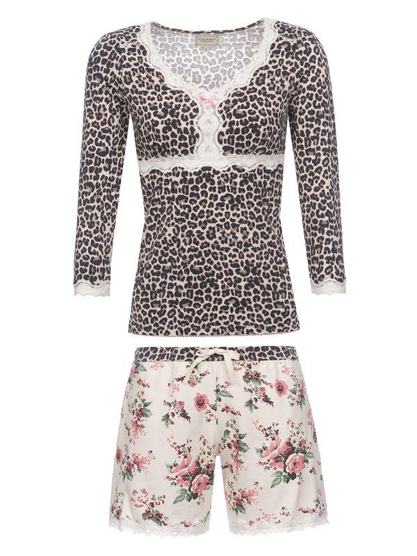 Vive Maria Wild Romance Short Pyjama leo/creme allover – Bild 0