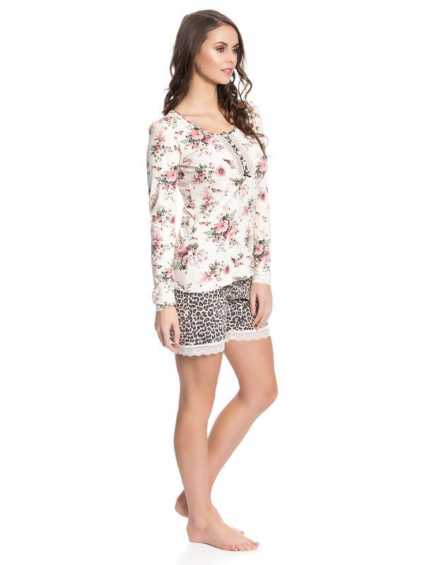 Vive Maria Wild Rose Short Pyjama creme/leo allover – Bild 2