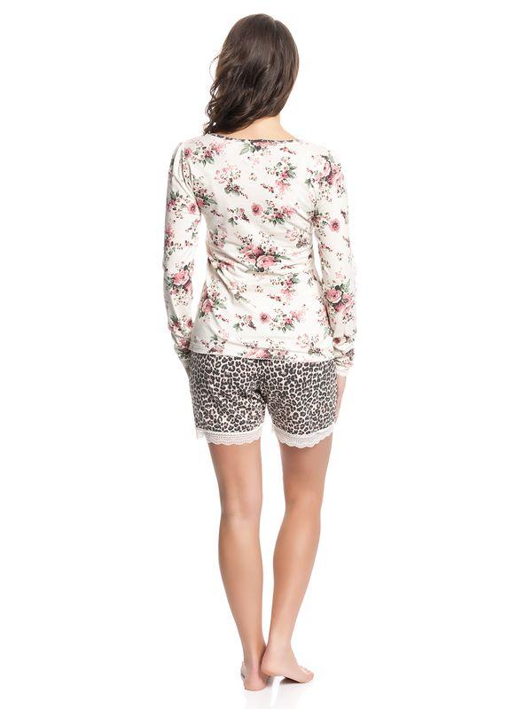 Vive Maria Wild Rose Short Pyjama creme/leo allover – Bild 3