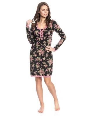 Vive Maria Bouquet D'Amour Nightdress black allover – Bild 1