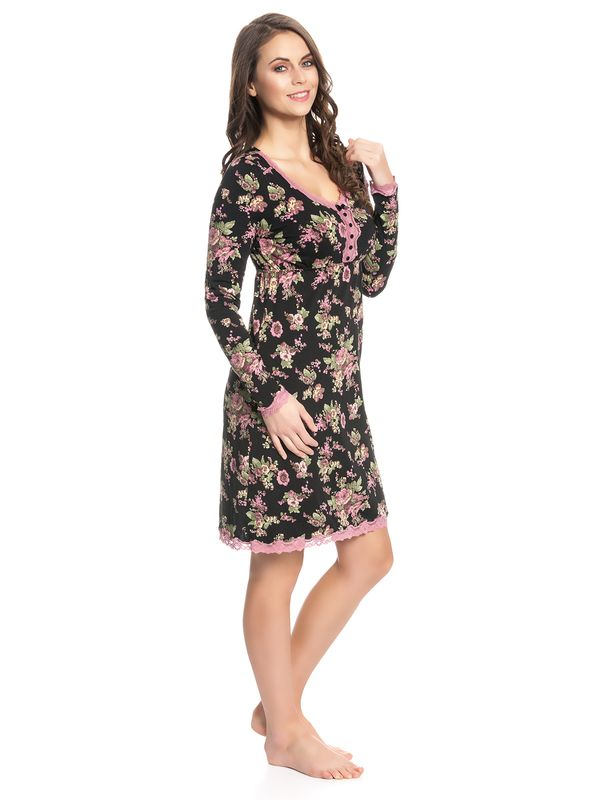 Vive Maria Bouquet D'Amour Nightdress black allover – Bild 3
