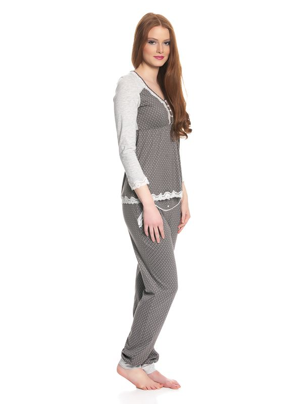 Vive Maria Gray Night Pyjama gray melange/grey allover – Bild 2