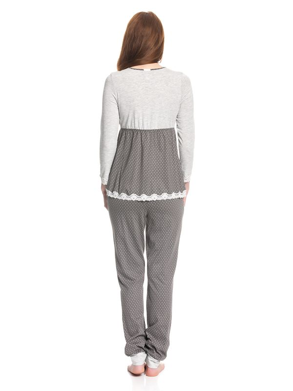 Vive Maria Gray Night Pyjama gray melange/grey allover – Bild 3