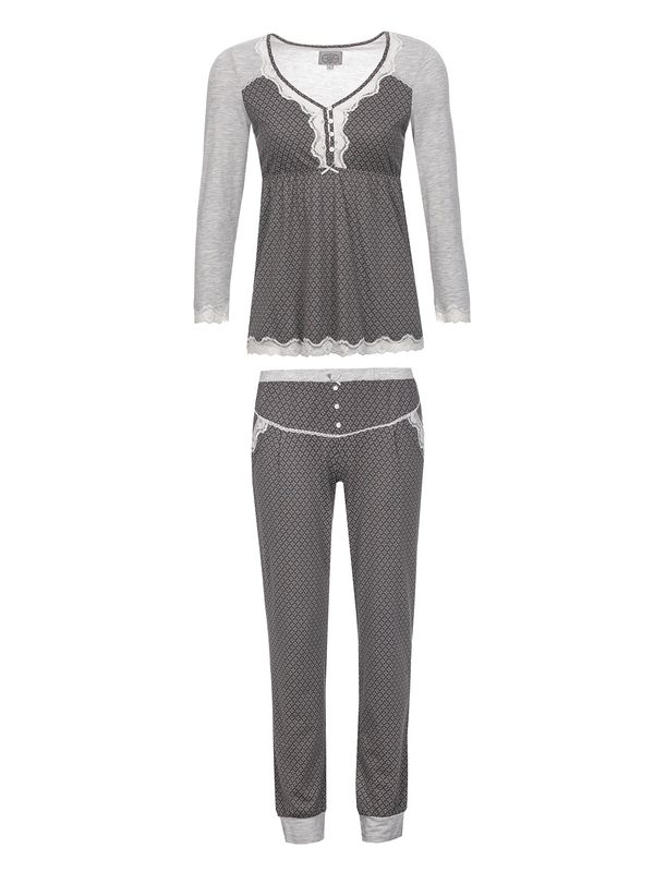 Vive Maria Gray Night Pyjama gray melange/grey allover – Bild 1