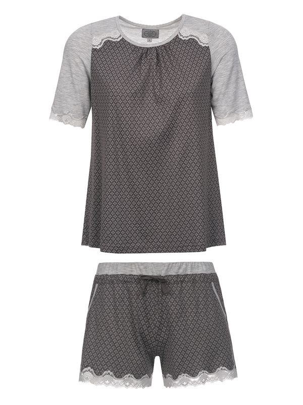 Vive Maria Gray Night Short Pyjama gray melange/grey allover – Bild 0