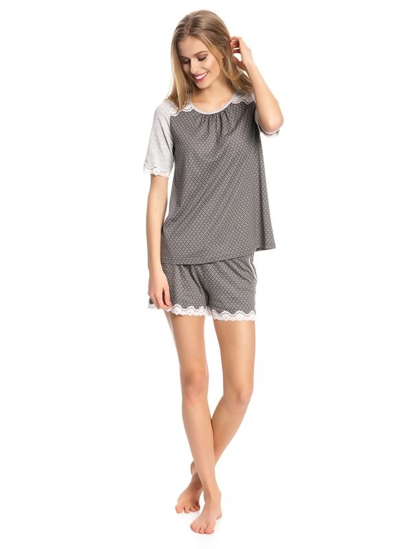 Vive Maria Gray Night Short Pyjama gray melange/grey allover – Bild 1