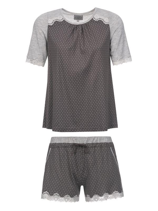 Vive Maria Gray Night Short Pyjama gray melange/grey allover – Bild 0