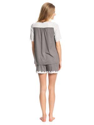 Vive Maria Gray Night Short Pyjama gray melange/grey allover – Bild 3