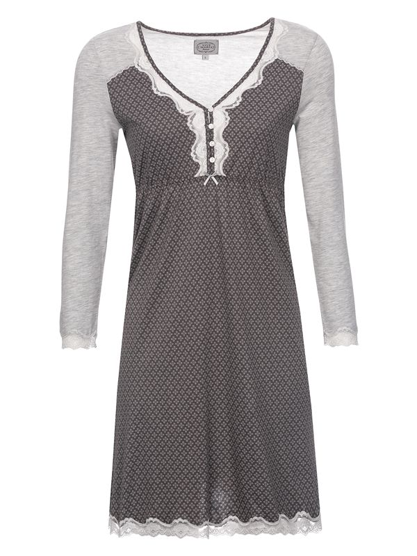 Vive Maria Gray Night Nightdress gray melange/grey allover – Bild 0