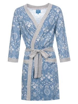 Vive Maria Blue Barock Morning Gown blue allover/grey melange – Bild 0
