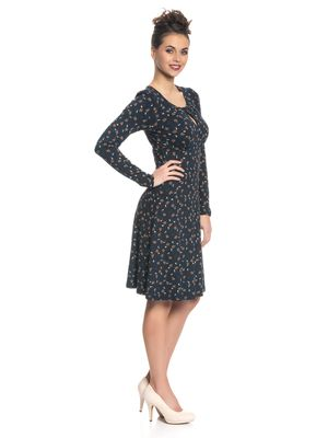 Vive Maria Sweet Swing Damen Kleid Navy Allover – Bild 2