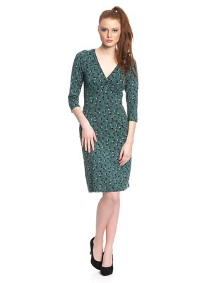 Vive Maria Swing Babe Damen Kleid Grün Allover – Bild 1