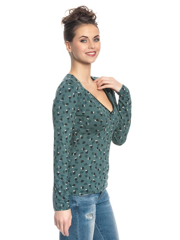 Vive Maria Swing Babe Damen Shirt Grün Allover – Bild 2