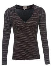 Vive Maria Lili Marleen Shirt for Women Black Allover – Bild 0
