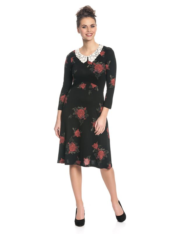 Vive Maria My Sweet Rose Kleid Schwarz Allover – Bild 1