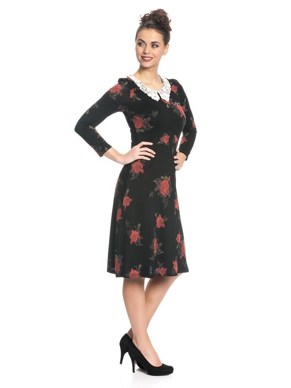 Vive Maria My Sweet Rose Kleid Schwarz Allover – Bild 2