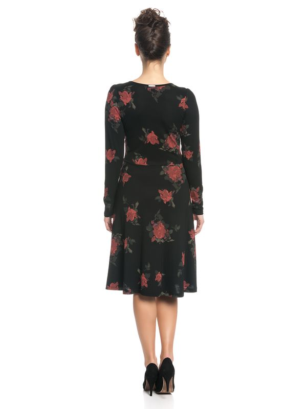 Vive Maria Red Rose Kleid Schwarz Allover – Bild 4
