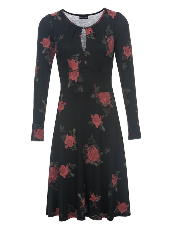 Vive Maria Red Rose Kleid Schwarz Allover – Bild 1