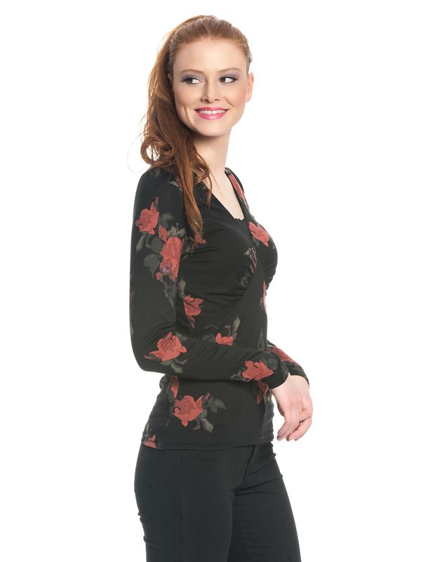 Vive Maria Red Rose Shirt black allover – Bild 2