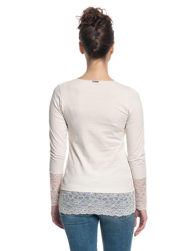 Vive Maria Romantic Basicshirt Weiß – Bild 4