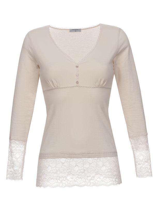 Vive Maria Romantic Basicshirt Weiß – Bild 0