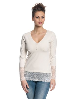 Vive Maria Romantic Basicshirt Weiß – Bild 1
