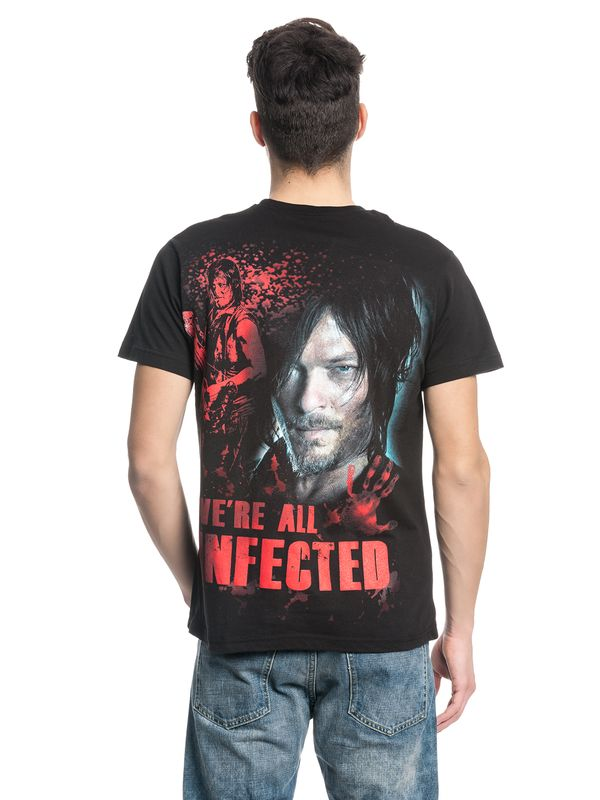 The Walking Dead DARYL ALL INFECTED Ripped T-Shirt black – Bild 2