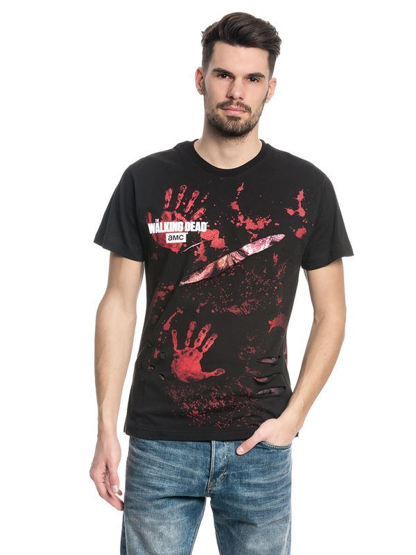 The Walking Dead DARYL ALL INFECTED Ripped T-Shirt black – Bild 0