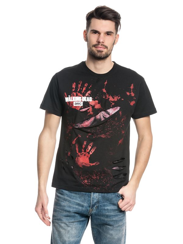 The Walking Dead RICK ALL INFECTED Ripped T-Shirt black – Bild 3