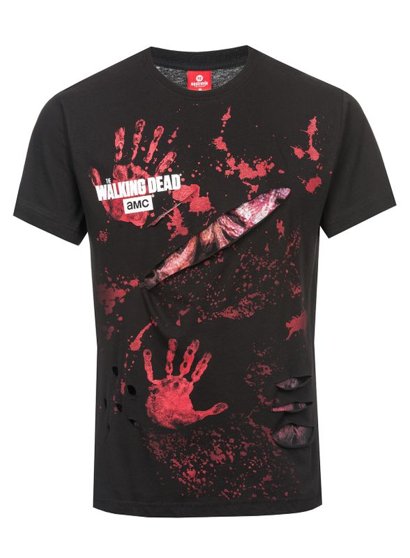 The Walking Dead RICK ALL INFECTED Ripped T-Shirt black – Bild 5