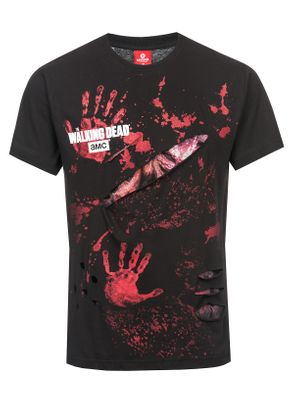 The Walking Dead RICK ALL INFECTED Ripped T-Shirt schwarz – Bild 0