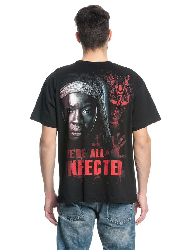 The Walking Dead MICHONNE ALL INFECTED Ripped T-Shirt black – Bild 3