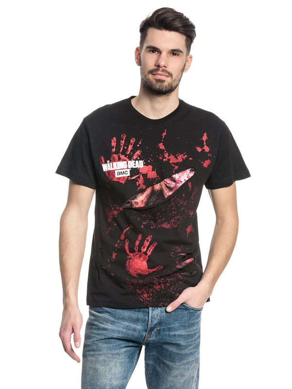 The Walking Dead ZOMBIE ALL INFECTED Ripped T-Shirt black – Bild 1