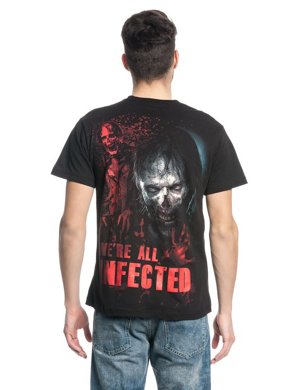 The Walking Dead ZOMBIE ALL INFECTED Ripped T-Shirt black – Bild 7
