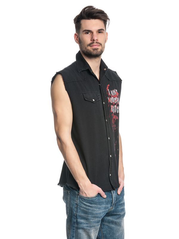 The Walking Dead DARYL WINGS Mens Sleeveless Worker Shirt Hemd schwarz – Bild 2