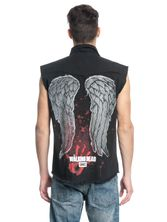 The Walking Dead DARYL WINGS Mens Sleeveless Worker Shirt black – Bild 3