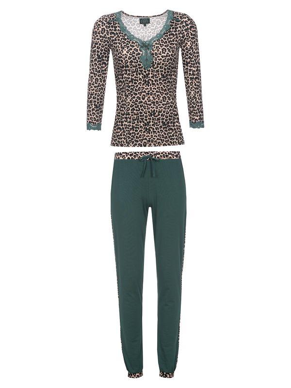 Vive Maria Green Lily Girl Pyjama leo/dunkelgrün – Bild 1