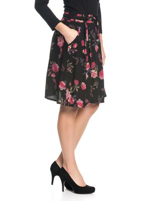 Vive Maria Victorian Rose Skirt black allover – Bild 2