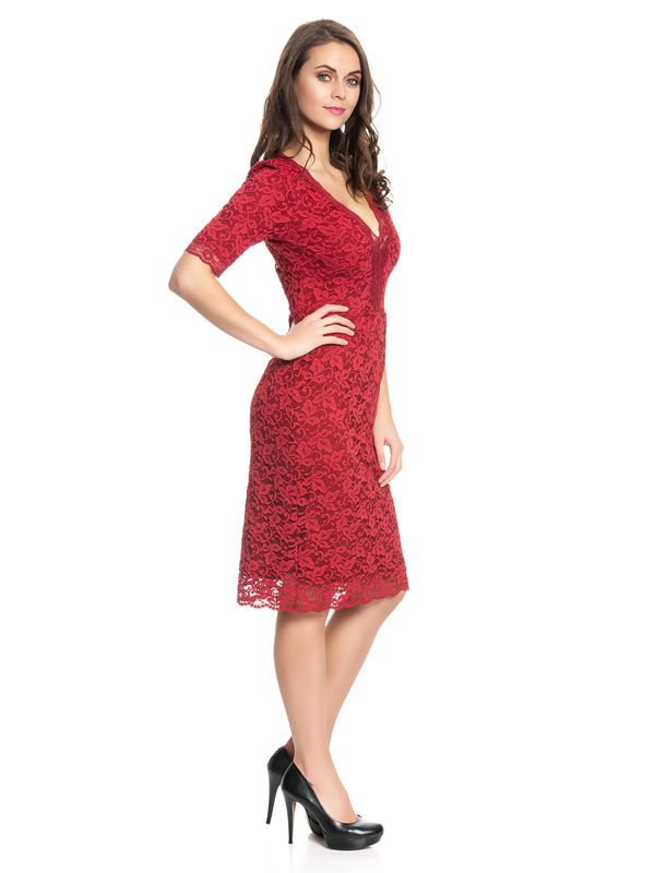 Vive Maria Red Glam Lace Dress red – Bild 2