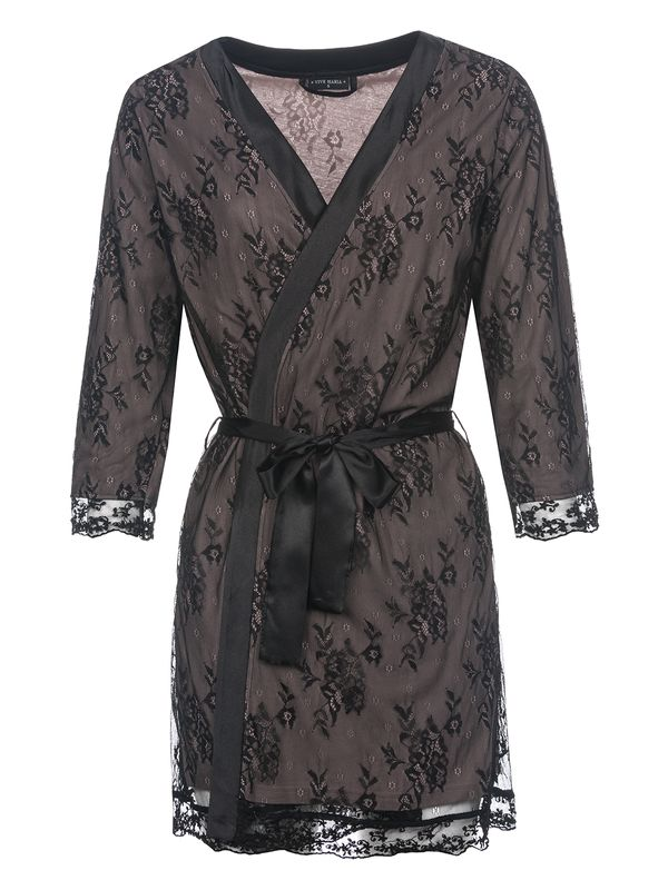 Vive Maria Glam Lace Morning Gown black view
