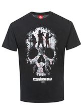 The Walking Dead Heroes Skull Montage T-Shirt black – Bild 0