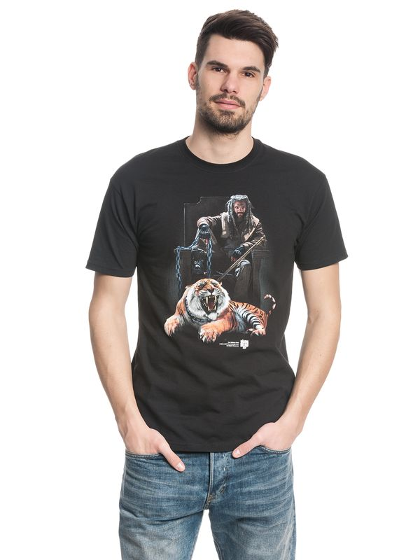 The Walking Dead Ezekiel & Tiger T-Shirt black – Bild 1