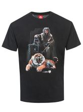 The Walking Dead Ezekiel & Tiger T-Shirt black – Bild 0
