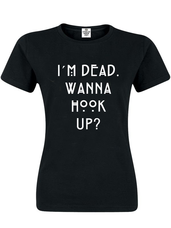American Horror Story Wanna Hook Up Damen T-Shirt Schwarz – Bild 0