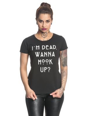 American Horror Story Wanna Hook Up Damen T-Shirt Schwarz – Bild 1