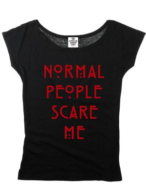 American Horror Story Normal People Special Girl Shirt Frauen T-Shirt black – Bild 0