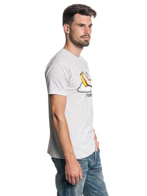 Gudetama Not Today Herren T-Shirt Grau Melange – Bild 2