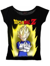 Dragonball Z Vegeta Five Female Loose Shirt black
