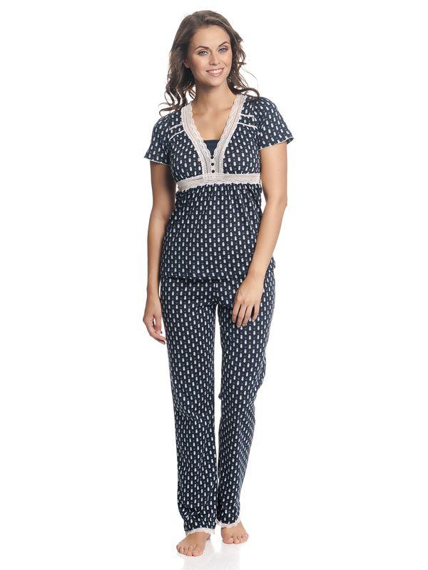 Vive Maria Nightsailor Pyjama Dunkelblau Allover – Bild 2