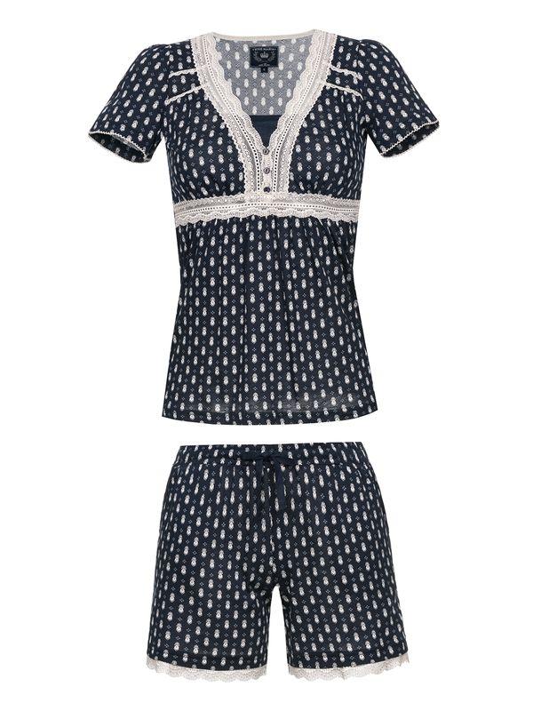 Vive Maria Nightsailor Short Pyjama for Women Navy Allover – Bild 1